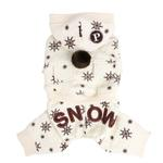 View Image 1 of Whiteout Dog Jumpsuit by Puppia -Ivory