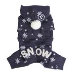 View Image 1 of Whiteout Dog Jumpsuit by Puppia - Navy