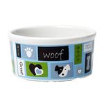 View Image 2 of Woof Flair Dog Bowl - Blue