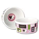 View Image 1 of Woof Flair Dog Bowl - Pink
