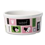 View Image 2 of Woof Flair Dog Bowl - Pink