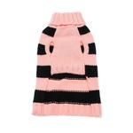 View Image 2 of Worthy Dog Pink Rugby Dog Sweater