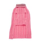 View Image 2 of Worthy Dog Ribbed Turtleneck Dog Sweater - Pink