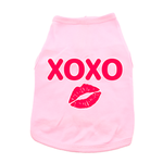 XOXO Dog Shirt - Light Pink