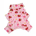 View Image 2 of Yummy Strawberry Turtleneck Fleece Dog Pajamas by Klippo