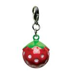 View Image 1 of Yummy Strawberry Metal Jingle Bell Dog Collar Charm by Klippo
