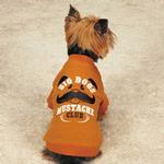 View Image 2 of Zack & Zoey Big Dogs Mustache Club Dog T-Shirt - Orange