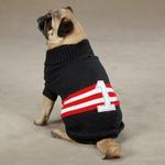 View Image 2 of Zack & Zoey Collegiate Dog Sweater - Black