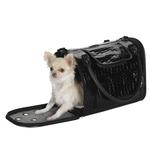 View Image 2 of Zack & Zoey Croco Pet Carrier Tote - Black