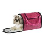 View Image 2 of Zack & Zoey Croco Pet Carrier Tote - Pink