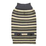 Zack and Zoey Elements Derby Stripe Dog Sweater - Green