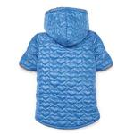 Zack and Zoey Elements Quilted Hearts Dog Jacket - Blue