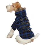 View Image 2 of Fur Tipped Toggle Dog Coat - Blue