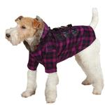 View Image 2 of Fur Tipped Toggle Dog Coat - Pink