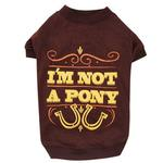 View Image 1 of Zack & Zoey I'm Not a Pony Dog T-Shirt - Brown