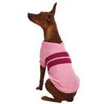 View Image 2 of Zack & Zoey Ivy League Dog Sweater - Begonia Pink