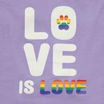 View Image 2 of Zack & Zoey Love is Love UPF 40 Dog Tank - Purple