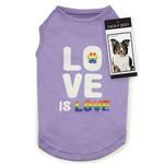View Image 1 of Zack & Zoey Love is Love UPF 40 Dog Tank - Purple