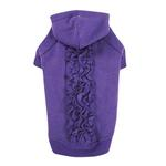 View Image 2 of Zack & Zoey Lucy Ruffle Dog Hoodie - Ultra Violet
