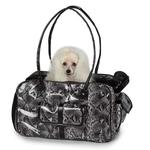 View Image 1 of Zack & Zoey Metallic Python Pet Carrier