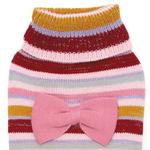 View Image 2 of Zack and Zoey Multi Stripe Bow Dog Sweater - Pink