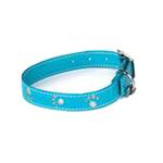 View Image 1 of Zack & Zoey Sparkle Paw Dog Collar - Bluebird