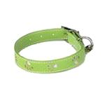View Image 1 of Zack & Zoey Sparkle Paw Dog Collar - Parrot Green