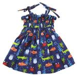 View Image 1 of Zack and Zoey Under the Sea Ruched Dog Dress