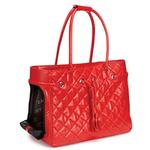 View Image 2 of Zack & Zoey Vineyard Quilted Pet Carriers - Red