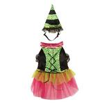 View Image 2 of Witchy Business Halloween Dog Costume - Green