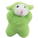 View Image 1 of Zanies Cuddly Berber Babies - Green Lamb