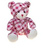 View Image 1 of Zanies Kiss N' Cuddle Bears Dog Toy - Plaid