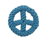 View Image 1 of Zanies Peace Sign Rope Toy - Bluebird