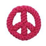 View Image 1 of Zanies Peace Sign Rope Toy - Raspberry