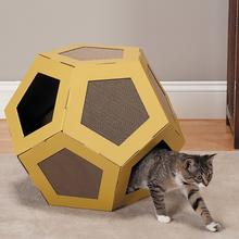 Savvy Tabby Octo-Scratch Cat Scratcher - Starburst Yellow