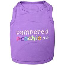 Pampered Poochie Dog Tank by Parisian Pet - Purple