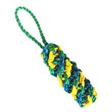 ABACA-DABRA DNA Dog Toy from WaLk-e-Woo - Green/Blue/Yellow