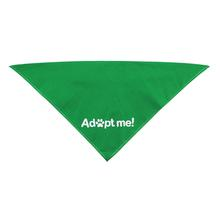 Adopt Me Screen Print Dog Bandana - Emerald Green