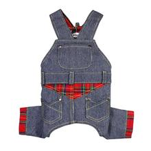 Adorable Stripy Denim Dog Overalls by Klippo