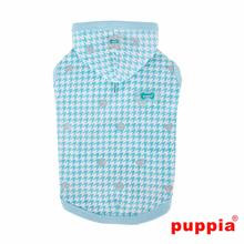 Aggie Hooded Dog Shirt by Puppia - Aqua