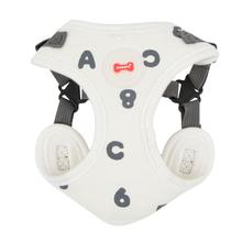 Algo Adjustable Step-In Dog Harness by Puppia - White