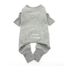 Alloy Gray Sweet Dreams Thermal Dog Pajamas