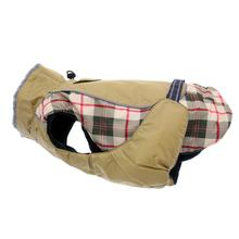Alpine All-Weather Dog Coat - Beige Plaid - Disc. Style