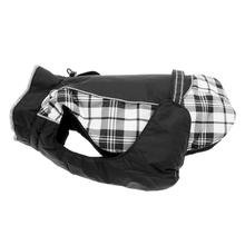 Alpine All Weather Dog Coat - Black and White Plaid - Disc. Style
