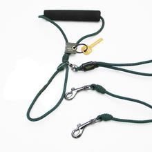 Alpine Two Dog Leash - Green