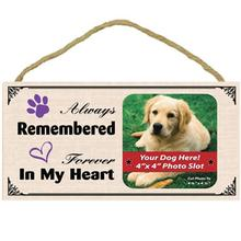 Always Remembered, Forever in my Heart Wood Frame Sign with Photo Slot