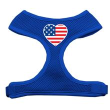 American Flag Heart Dog Harness - Blue