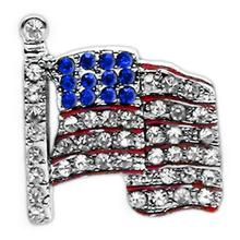 American Flag Slider Dog Collar Charm