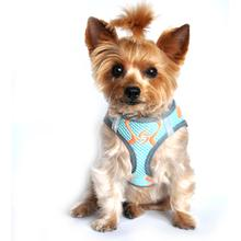 American River Choke Free Dog Harness Neon Sport Collection by Doggie Design - Aruba Blue