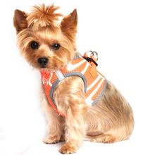 American River Choke Free Dog Harness Neon Sport Collection by Doggie Design - Iridescent Orange